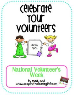 Free-National Volunteer Week April 15-21!