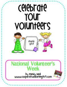 Free-National Volunteer Week April 15-21!