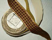 Vintage 1920 Woven Copper Metallic Thread Dress Braid Trim Original Spool