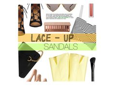 """""""Naked."""" by tasnime-ben ❤ liked on Polyvore featuring Nine West, Rebecca Minkoff, Mulberry, Wildfox, Clarins, Livlov, Marc Jacobs, Urban Decay, contestentry and laceupsandals"""