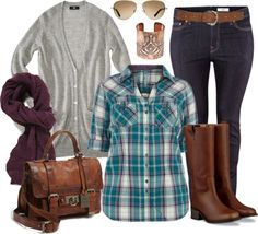 """""""Plaid Casual - Plus Size"""" by alexawebb ❤ liked on Polyvore"""