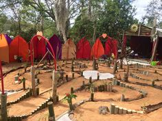 In Queensland, Australia, the Sacred Union Labyrinth at the Woodford Festival.