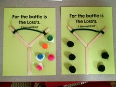 David and Goliath craft. Preschool, Kindergarten craft. Sunday School craft.                                                                                                                                                     More