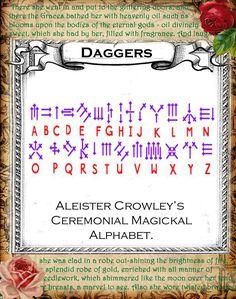 Daggers Script | Sacred Wicca