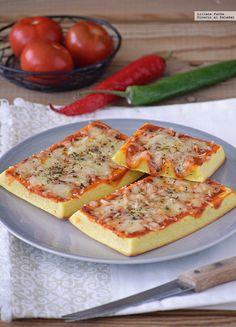 Gofres pizza. Receta facilísima para antojos Hawaiian Pizza, Crepes, Vegetable Pizza, Quiche, A Food, Waffles, Brunch, Cooking, Breakfast