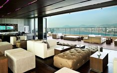 As with many of Hong Kong's rooftop bars, Sugar bar is part of a hotel. Located on the 32nd floor of the East hotel, it looks towards centra...