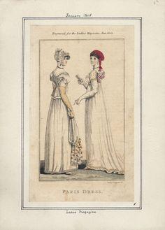 Ladies' Magazine, Paris Dress,January 1805.