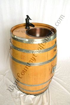 Wine country craftsman recycled wine barrels into functional art