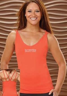 Solid Tangerine Tank by KOS USA! Loving the color!