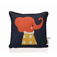In love with these pillows! || ferm LIVING Elle Elephant Pillow || via All+Modern