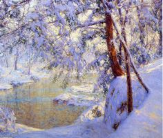 Winter Light and Shadows, huile sur toile de Walter Launt Palmer (1854-1932, United States)