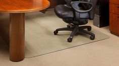 "46""x 60"" Glass Office Chair Mat"