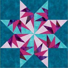 Falcon's Star Paper Pieced Block