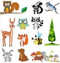 """Forest Chums Quilt 50"""" Paper Piecing Patterns quiltartdesigns.blogspot.com"""