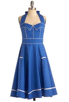 #vestido mujer #modcloth azul #tiendaropa
