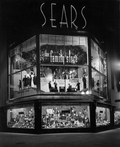 Sears Department Store (the family store) ~ Cicero and Irving Park Avenues, Chicago, IL (c. 1938)