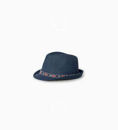 ZARA - BØRN - Denim hat med broderi