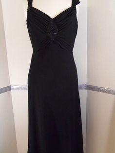 Evan Picone Black dress Empire Waist Flowing skirt Polyester Knee-Length Size 10 #EvanPicone #EmpireWaist #LittleBlackDress
