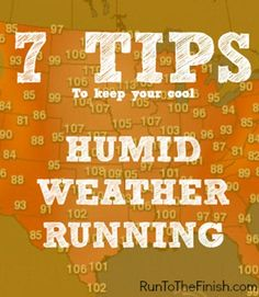 running in humid weather - tips to keep your cool during summer training