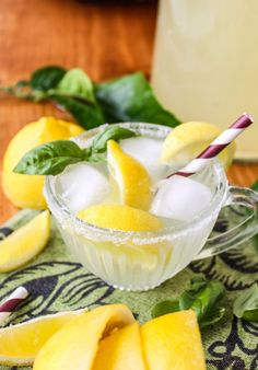 Basil Lemonade #drink #recipe