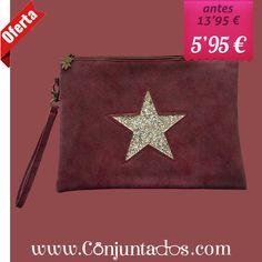 3ad9205cfd80 Comprar Bolso de mano Star en color granate al mejor precio en Conjuntados