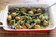 Młode ziemniak pieczone z fasolką szparagową 1