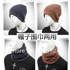 Зимние шапки мужчины мода тенденция зимой тепловой шарф воротники двойного шляпа или любителей дизайн глушитель шарф мужчины и женщины