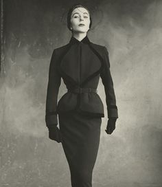 WHO: Bettina FAMOUS FOR: Being a muse to Jacques Fath and Givenchy. Wore fifties couture like a queen, dated Prince Aly Khan. - Photographed by Irving Penn, Vogue, September 1, 1950