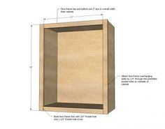 Wall Kitchen Cabinet Basic Carcass Plan- Upper Upper cabinet plans to build