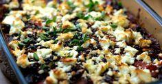 Feta überbackenes Moussaka mit bulgarischem und griechischem Einfluss ✓ einfaches vegetarisches Rezept mit Beluga Linsen ✓  ☆ Jetzt nachkochen!