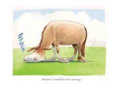 Workin' hard or hardly working..? #HorseComic