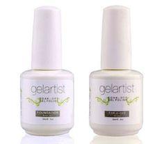 Gelartist UV LED Professional Top & Base Coat Any Gel Polish free gelish file