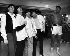 Harry Benson, The Beatles & Cassius Clay, Fifth Street Gym, Miami, 1964.