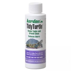 Kordon Tidy Turtle Tank Cleaner improves water quality and reduces odors caused by foul water. Extends usefulness of filter materials and contains only naturally occurring beneficial bacteria. Does not harm any currently active beneficial organisms.  Breaks down organic debris in gravel and filters. Removes sludge from substrate. Does not affect pH. Made in the USA.