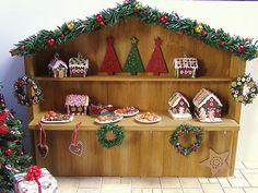 Miniature Christmas Market Stall