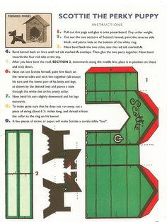 Vintage paper dog house - Free Printable