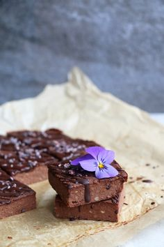 Chocolate Cauliflower Bars (gluten-free & vegan) - Nirvana Cakery