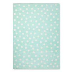 Polka Dot Area Rug (4'x5'6) Mint (Green) - Pillowfort