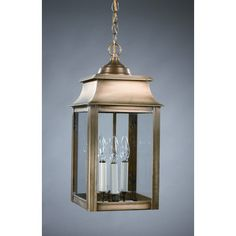 Northeast Lantern Concord Candelabra Sockets Pagoda 3 Light Hanging Lantern | Wayfair
