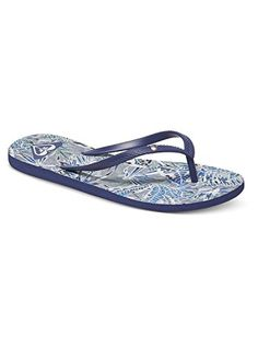 8a12971cff16b Roxy Womens Bermuda Sandal Flip Flop NavyBlueWhite 9 M US    You can find  out