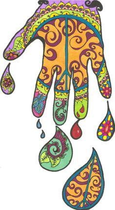 Not henna, but Fatima's Hand for Elkins S. Hamsa Design, Protection Symbols, Show Of Hands, Sketching Techniques, Hand Of Fatima, Middle School Art, Hand Art, Love Pictures, Art Sketchbook