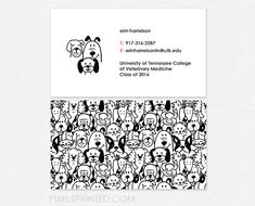 business cards for veterinary clinics and veterinary students #DogLogo