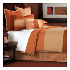 Eastern Accents Mondrian Canyon Button-Tufted Comforter Size: California King, Color: Brown and Gold