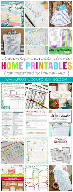 Take a look at these 20 Must Have Home Printables to get you Organized for the New Year on Frugal Coupon Living.