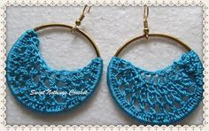 Sweet Nothings Crochet: SIMPLE HOOP EAR RING 1