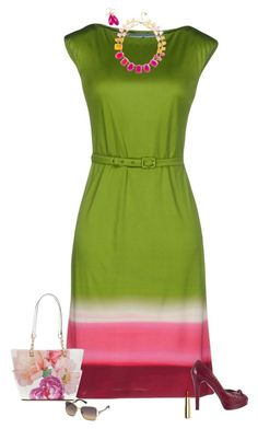 Summer colors by julietajj on Polyvore featuring polyvore fashion style Prada Stuart Weitzman Calvin Klein Kate Spade Swarovski H&M clothing