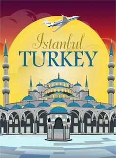 Istanbul Turkey by Clipper Vintage Travel Art Advertisement Poster in Posters   eBay