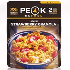 Peak Refuel Strawberry Granola - 2 Servings at Sierra. Celebrating 30 Years Of Exploring. Backpacking Food, Camping Meals, Freeze Drying Food, No Cook Meals, Meat Meals, Serving Size, Granola, Cravings, 3d Printing
