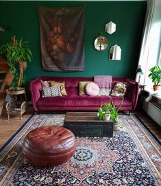 Here's The Best Green Living Room Ideas is part of Moroccan decor living room Green living rooms have so many variants to express their color talent A sunny clearing at the - Moroccan Decor Living Room, Living Room Green, My Living Room, Home And Living, Living Room Decor, Bedroom Decor, Accent Wall Bedroom, Living Spaces, Dining Room