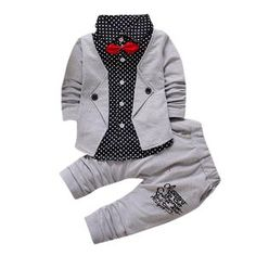 Kid Baby Boy Gentry Clothes Set Formal Party Christening Wedding Tuxedo Bow Suit Children 's gentleman' s suit Drop ship Baby Outfits, Outfits Niños, Kids Outfits, Baby Boys, Baby Boy Suit, Kids Boys, Baby Set, Boys Christmas Outfits, Tied T Shirt